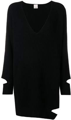 Pinko cut out V-neck sweater
