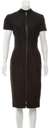 Victoria Beckham Silk Zip-Up Dress