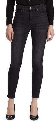Lauren Ralph Lauren High-Rise Skinny Dark Jeans