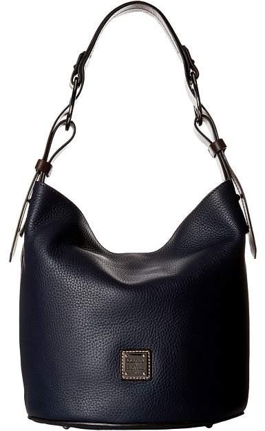 Dooney & Bourke Becket Henley Feedbag Handbags - MIDNIGHT BLUE/TMORO TRIM - STYLE
