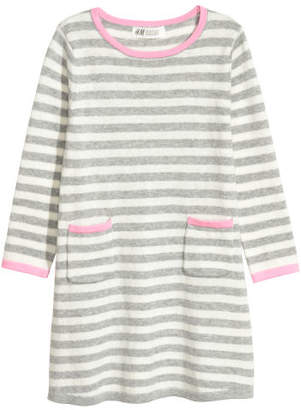 H&M Fine-knit Dress - Gray