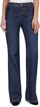Gerard Darel Nora Bell-Bottom Jeans in Blue