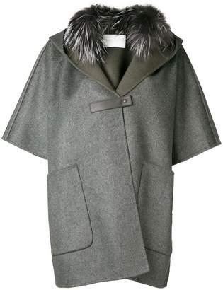 Fabiana Filippi fur collared cape coat