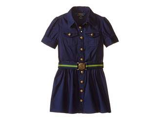 Polo Ralph Lauren Tissue Chino Shirtdress (Toddler)