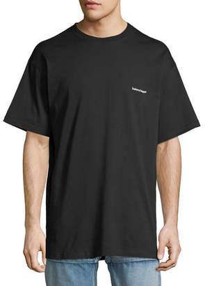 Balenciaga Copyright Embroidered-Logo T-Shirt