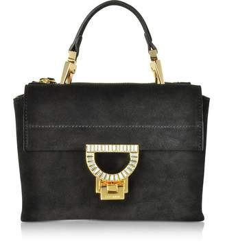 Coccinelle Black Suede Arlettis Jewel Mini Bag w/Shoulder Strap