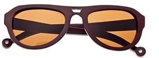Earth Wood Coronado Sunglasses W/Polarized Lenses - Red Rosewood/Brown