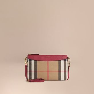 Burberry House Check and Leather Clutch Bag $625 thestylecure.com
