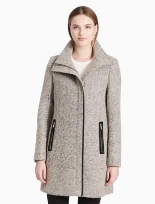 Calvin Klein luxe funnel neck coat