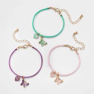 Cat & Jack Girls' 3pk Butterfly BFF Bracelet Set - Cat & JackTM