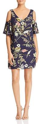 Bobeau B Collection by Floral-Print Cold-Shoulder Dress - 100% Exclusive
