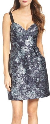 Women's Vera Wang Jacquard Fit & Flare Dress $268 thestylecure.com