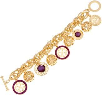 C. Wonder Rolo Link Charm Bracelet with Toggle Closure