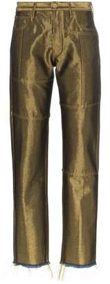 Marques Almeida Marques'Almeida mid-rise slim leg cotton blend trousers