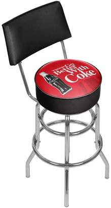 Trademark Gameroom Coke Swivel Bar Stool With Back