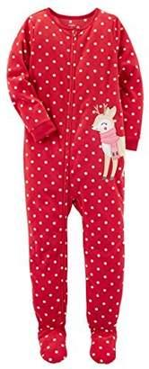 Carter's Baby Girls 1-Piece Fleece Pajamas (T, )
