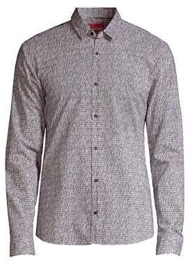 HUGO Ero Geo Button-Down Shirt