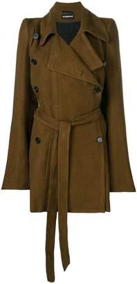 Ann Demeulemeester buttoned midi coat