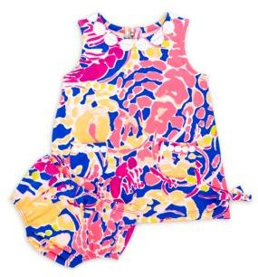 Lilly Pulitzer Baby Lilly Baby's Two-Piece Printed Dress and Bloomers Set
