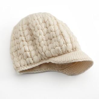 Sijjl SIJJL Crochet Brim Wool Beanie