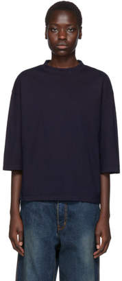 Blue Blue Japan Indigo Oversized Piping T-Shirt