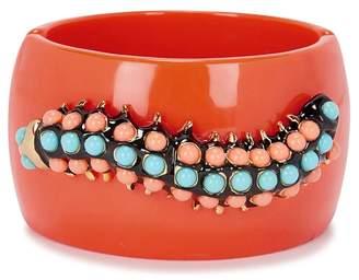 Kenneth Jay Lane Coral Caterpillar-embellished Cuff