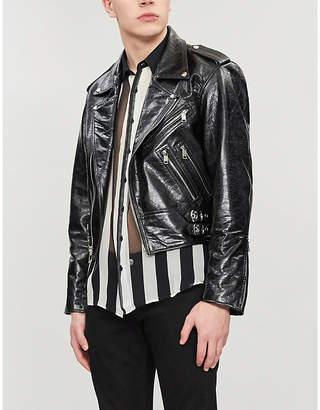 Enfants Riches Deprimes Cropped patent-leather jacket