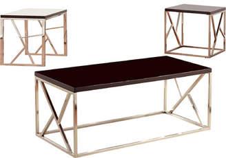 Hokku Designs Elvin Retro 3 Piece Coffee Table Set