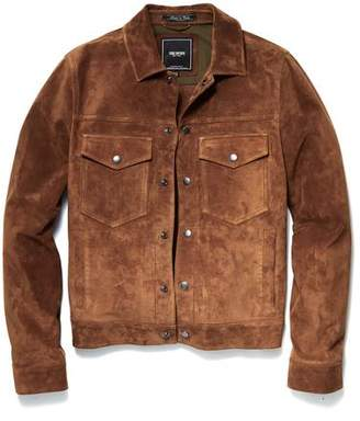 Todd Snyder Snap Dylan Italian Suede Jacket in Nutmeg