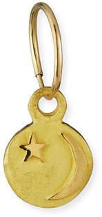 Lee Brevard 18k Star & Crescent Moon Earring, Single