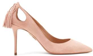 Aquazzura Forever Marilyn 85 Suede Pumps - Womens - Light Pink