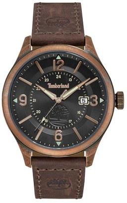 Timberland Blake Leather Strap Watch, 46Mm $139 thestylecure.com