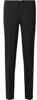 Prada Silk-paneled Wool-crepe Tapered Pants
