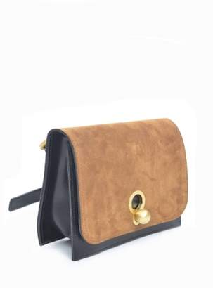 Danielle Foster CHARLIE Box in Black with Tan Suede