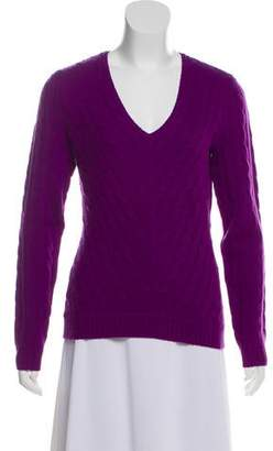 Ralph Lauren V-Neck Cable-Knit Sweater