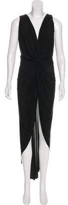 MISA Los Angeles High-Low Maxi Dress