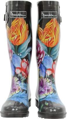 Anuschka Women's Rain Boot | Handmade, Waterproof Natural Rubber | Adjustable Calf Buckle | Memory Foam Insole | |