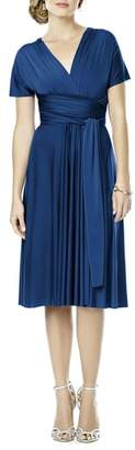 Dessy Collection Convertible Wrap Tie Surplice Jersey Dress
