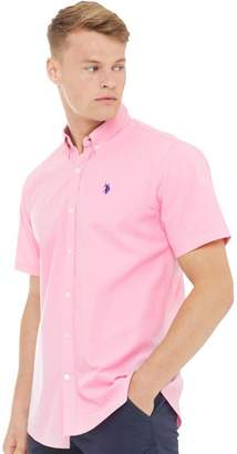 U.S. Polo Assn. Mens Garret Short Sleeve Shirt Sea Pink