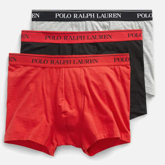 Polo Ralph Lauren Men's 3 Pack Trunk Boxer Shorts - Black/Anthracite/Red