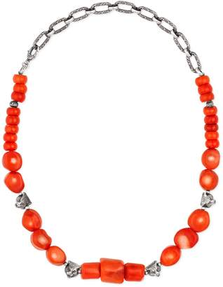 Gucci Anger Forest beaded necklace in silver