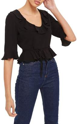 Topshop Phoebe Frilly Blouse