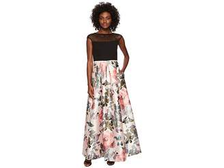 Sangria Illusion Top Ballgown Women's Dress