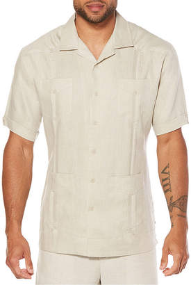 Cubavera 100% Linen Guayabera Short Sleeve 4 Pocket Guayabera