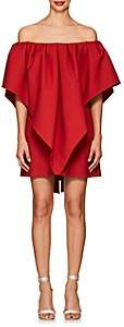 Valentino Women's Bow-Detailed Virgin Wool Off-The-Shoulder Dress - Red