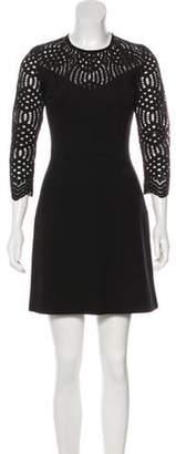 Just Cavalli Knit Mini Dress Black Knit Mini Dress