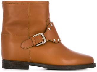 Via Roma 15 studded ankle boots