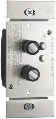 Rejuvenation Trimmed Push-Button Three-Way Dimmer Switch