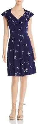 Leota Sweetheart Flutter Sleeve Dress $148 thestylecure.com