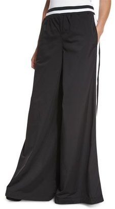 Fenty Puma by Rihanna Kimono Tricot Track Pants, Black/White $225 thestylecure.com
